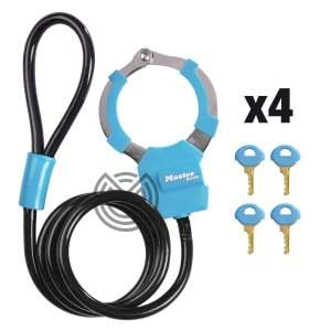 cadenas menottes masterlock bleu trottinette electrique