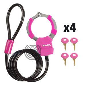 cadenas menottes masterlock rose trottinette electrique