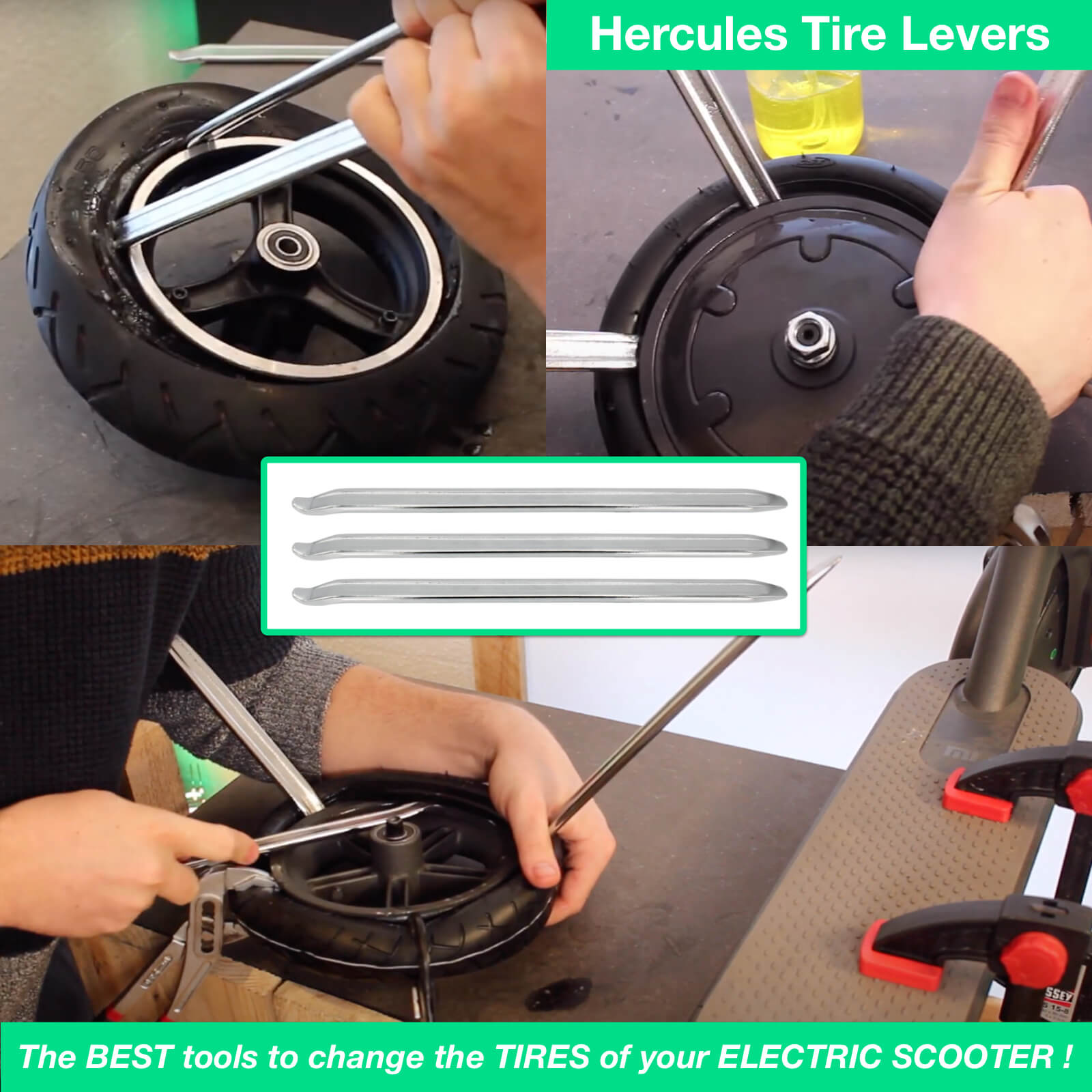 demonte pneu trottinette electrique