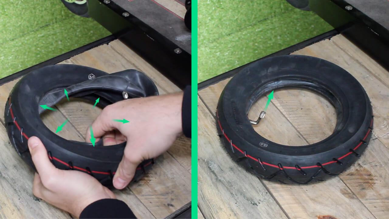 comment changer pneu avant speedtrott RS1600 trottinette electrique