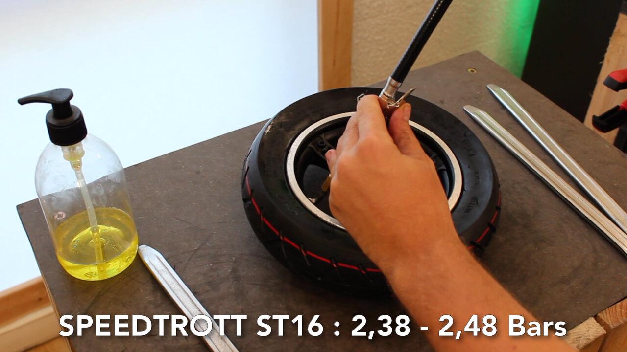 changer pneu speedtrott ST16 Gx Trottinette Electrique