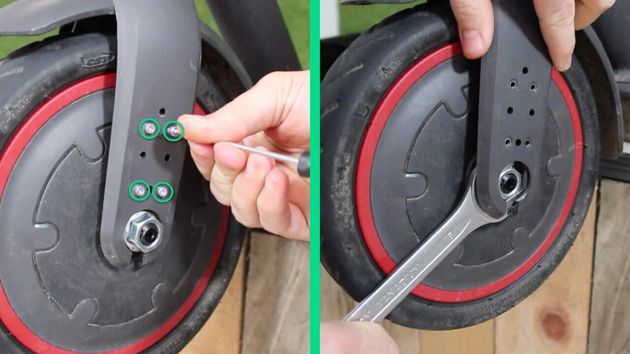 demonter roue avant xiaomi m365 pro