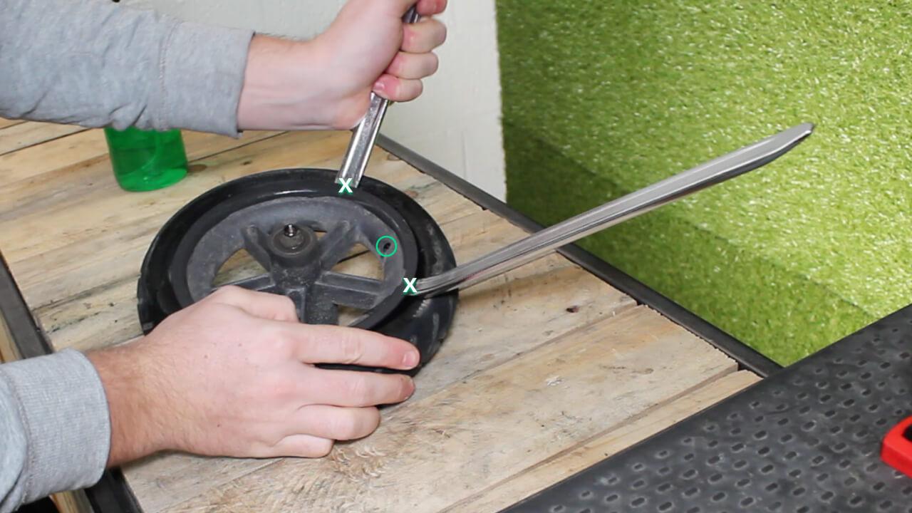 monter pneu plein xiaomi m365 roue arriere