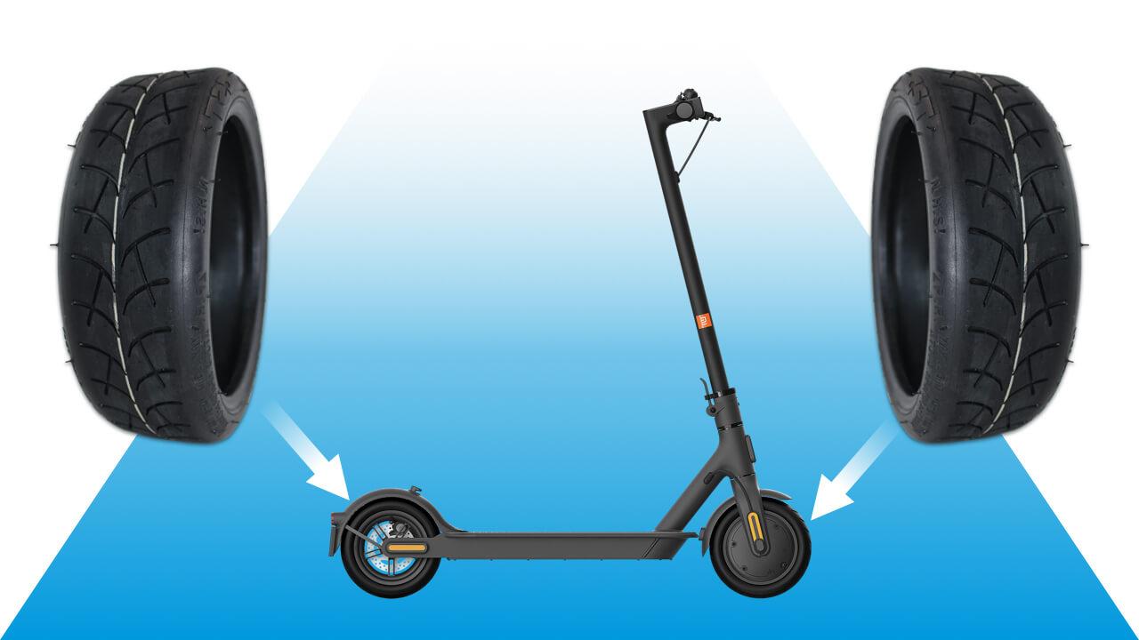 monter pneu plein xiaomi m365 Pro Pluie