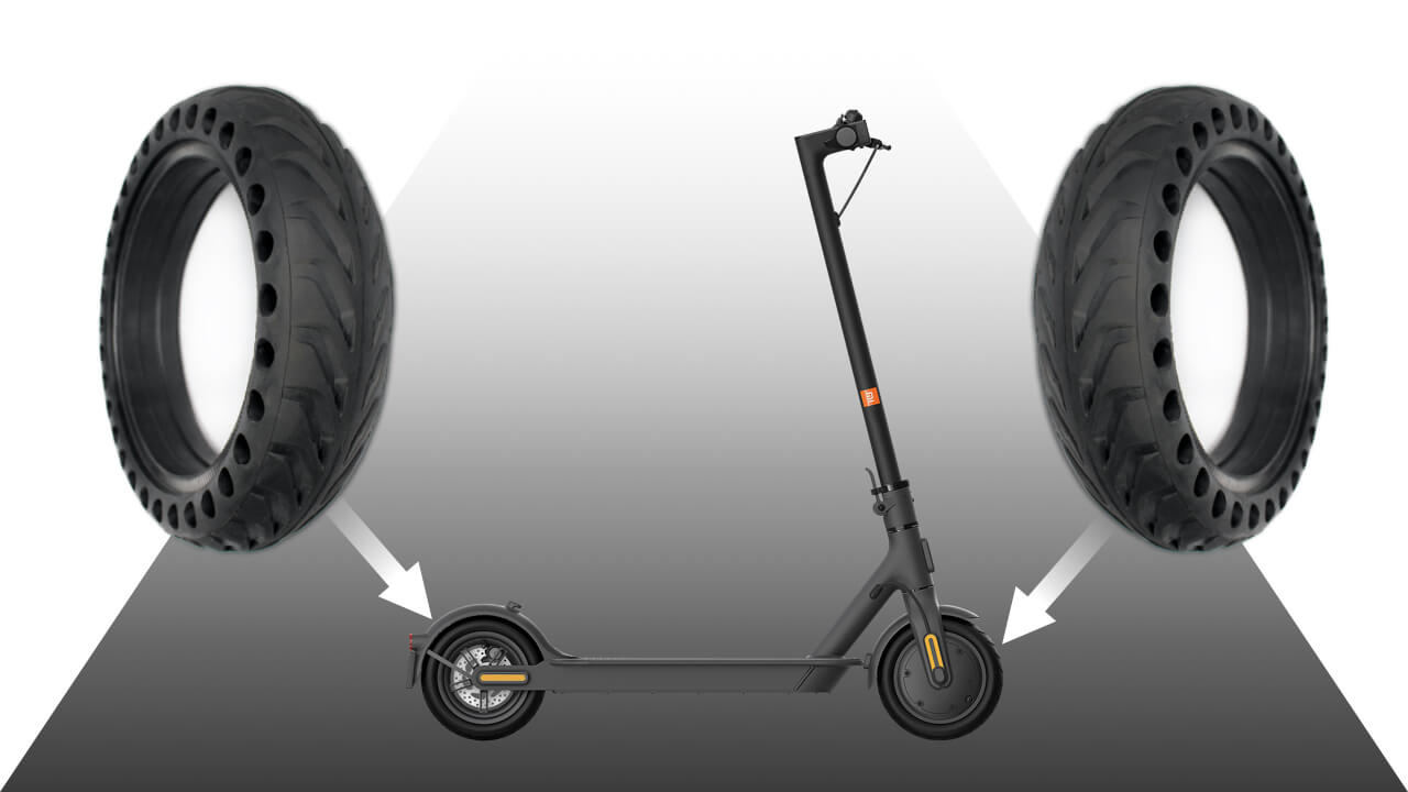 monter pneu plein xiaomi m365 Pro avant et arriere