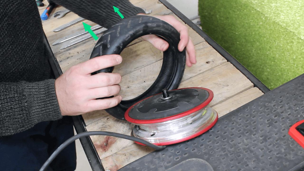 montage pneu plein xiaomi m365 roue avant